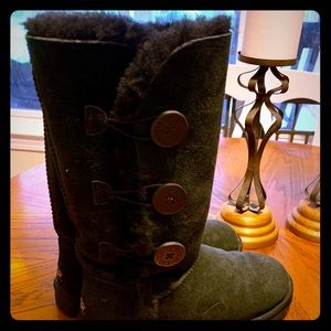 Black UGG Bailey Triple Button Boots